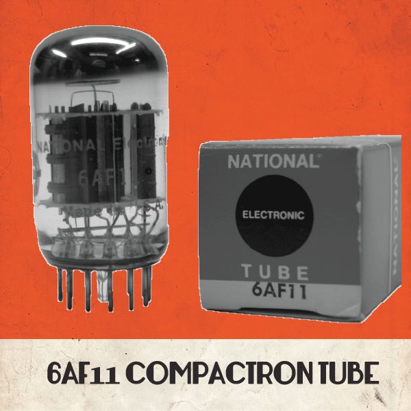 Compactron tube 6AF11 NOS by Zeppelin Design Labs