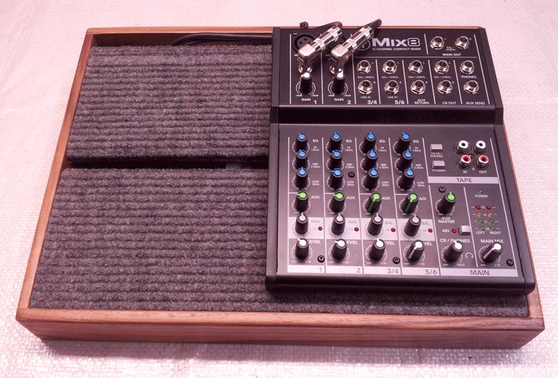 Custom hardwood effects pedalboard