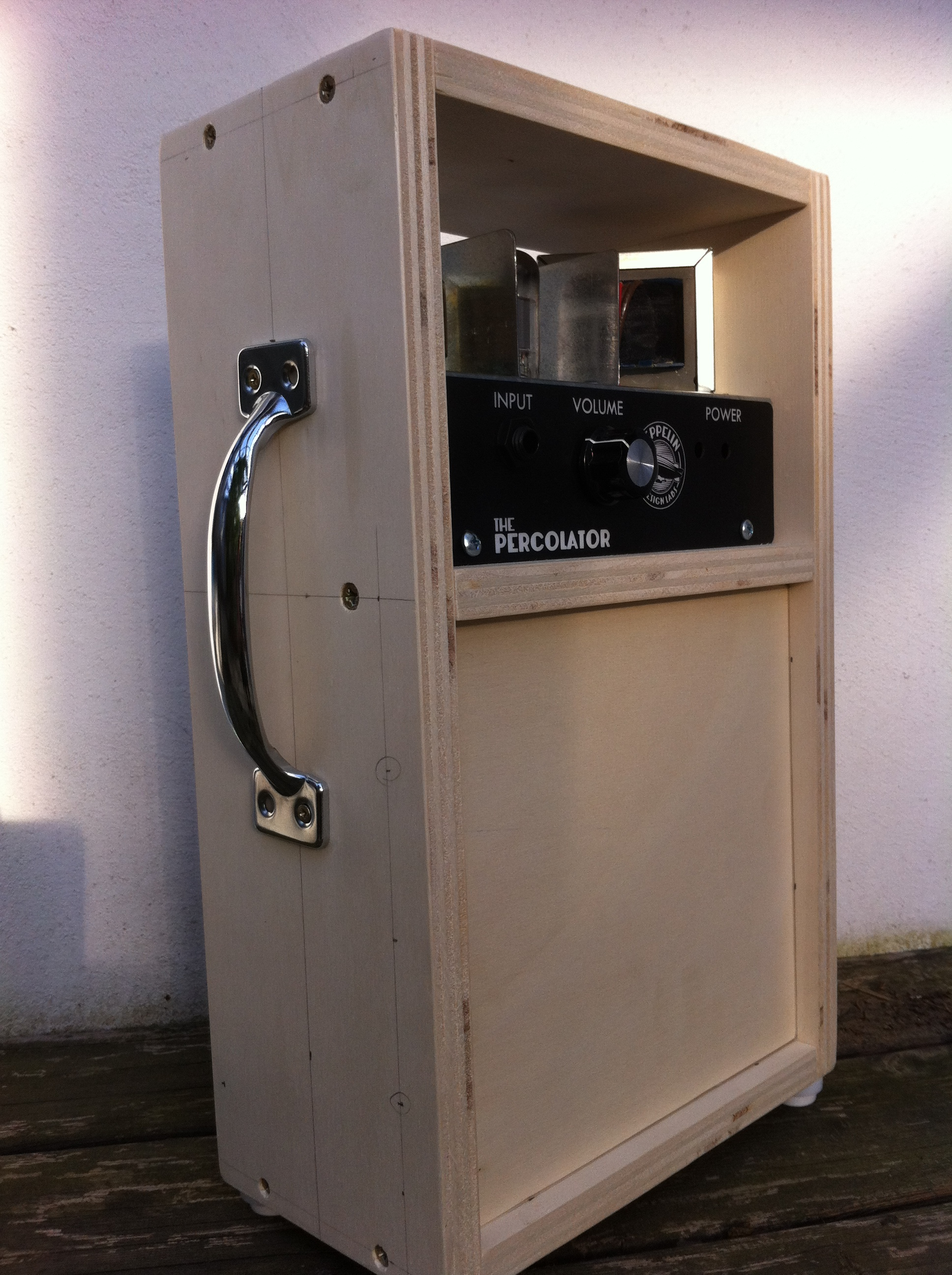 Percolator in custom cabinet