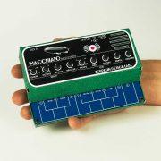 Macchiato Mini Synth shown in DIY cardstock cabinet