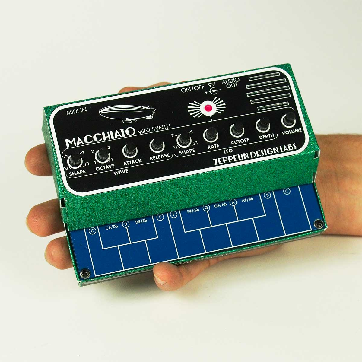 Macchiato Mini Synth Digital Synthesizer Zeppelin Design