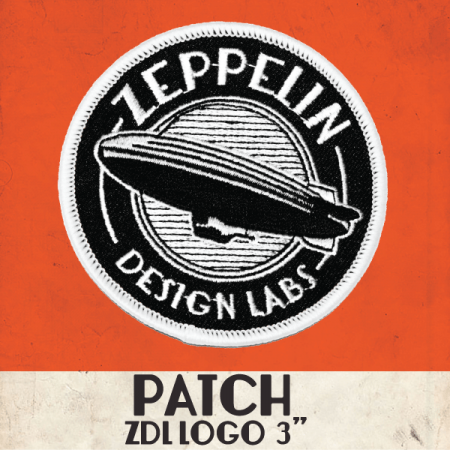 "Zeppelin Logo 3"" Embroidered Patch"